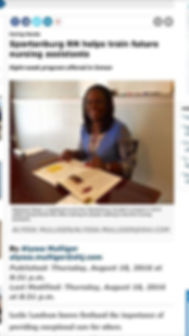 Caring Hands made the paper!!!!!  __Thanks to all of my past and present students for allowing me to