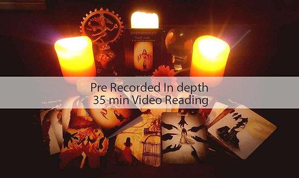 35 Minute Pre Recorded Video