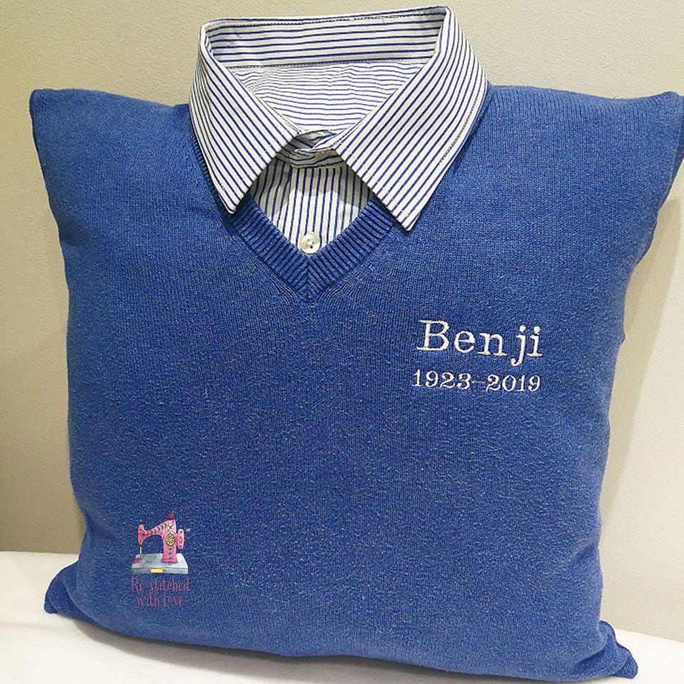 Shirt/Cardigan Cushion (With Neckline)