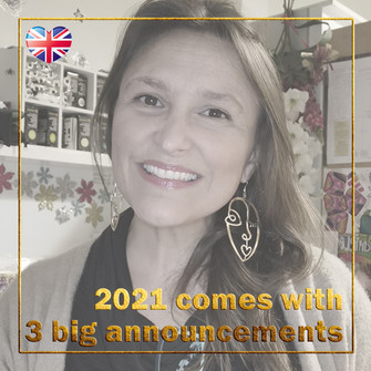 V-log 2021 #1 - BujoScrap in English - 3 major announcements!