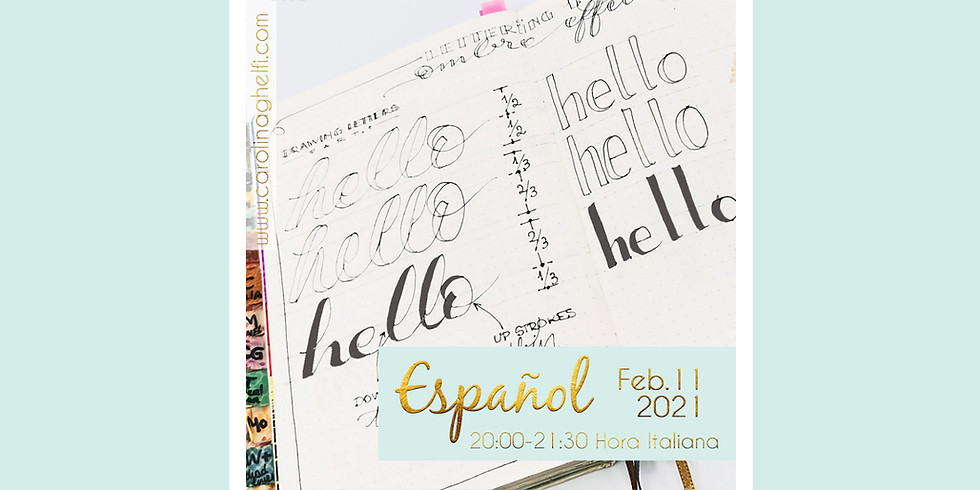 LETRAS: Técnicas de Faux Calligraphy (ENGLISH)