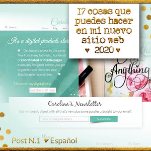 17 cosas que puedes hacer en mi nuevo sitio web ♥ 2020