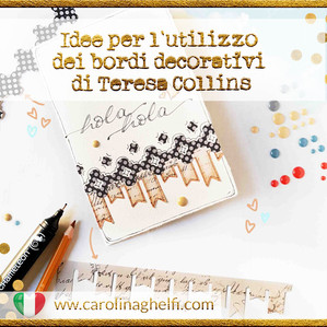 Bordi decorativi de Teresa Collins, intervenuti! (per card, LO e pagine del tuo Bujo)