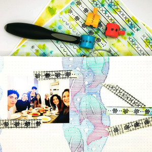 """How to create """"Washitape"""" with WeR's Sew Stamper once they run out of ink (ITA-ESP-ENG)"""