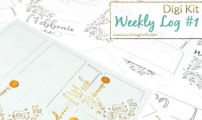 Carolina Ghelfi BujoScrap Weekly Log Digi Kit Freebie