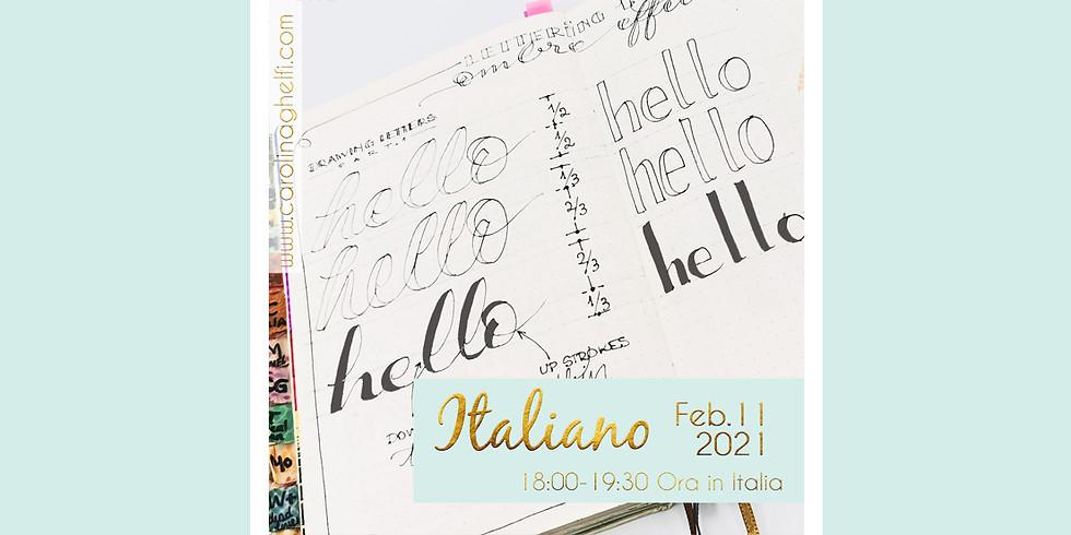 LETTERING: Tecniche di Faux Calligraphy (ITALIANO)