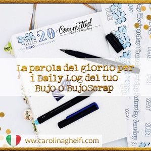 "La parola del giorno per i Daily Log di Bujo o BujoScrap + Freebie : ""500 beautiful words"""