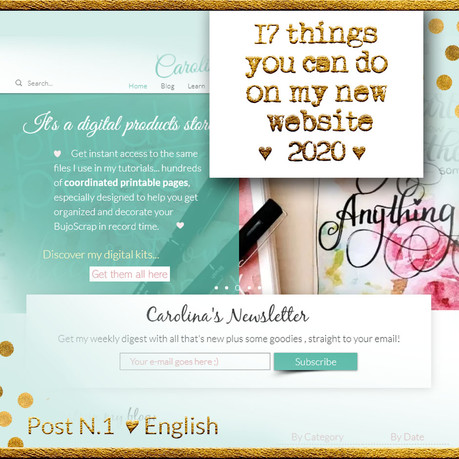 17 things you can do on my new website ♥ 2020