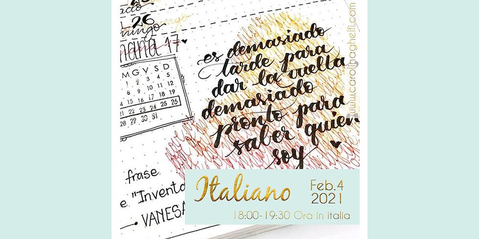 LETTERING: Impara ad amare la tua calligrafia (ITALIANO)
