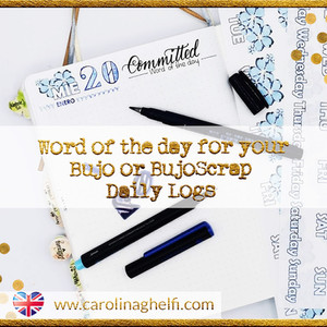 """Word of the day for your Bujo or BujoScrap's Daily Logs  + Freebie: """"500 beautiful words"""""""