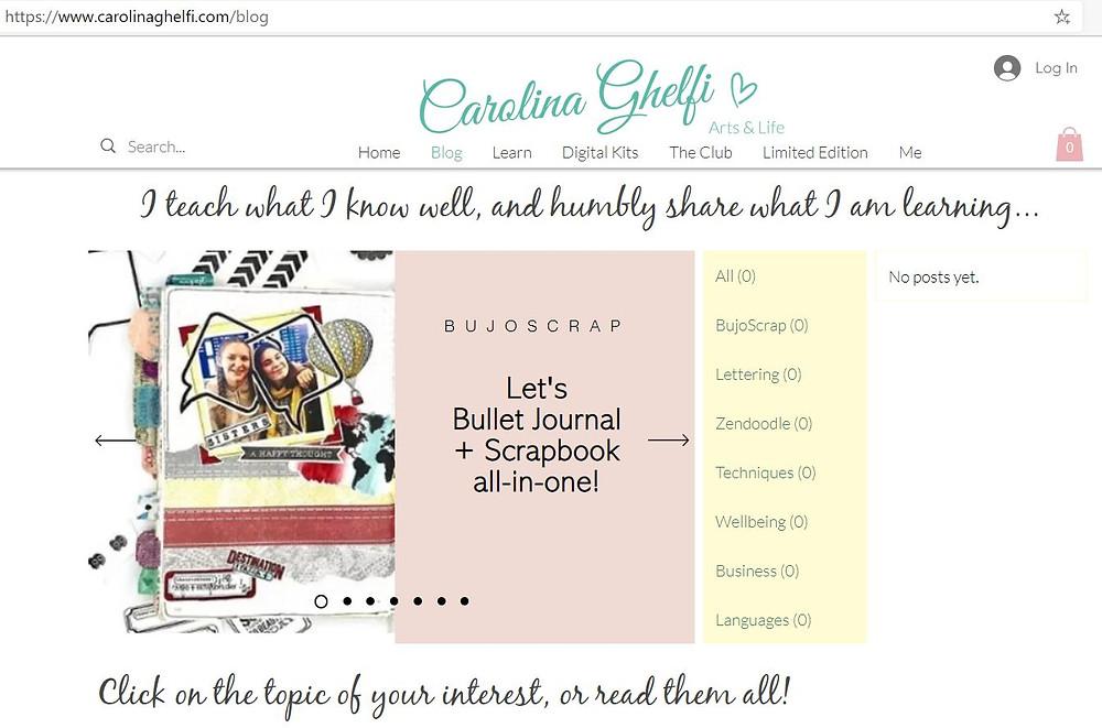 Carolina Ghelfi BujoScrap Blog topics