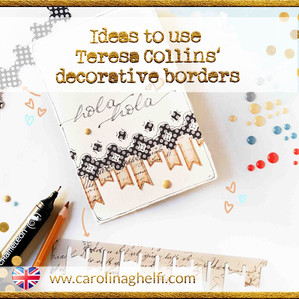 Teresa Collins borders, intervened! (for cards, LOs and Bujo Spreads)