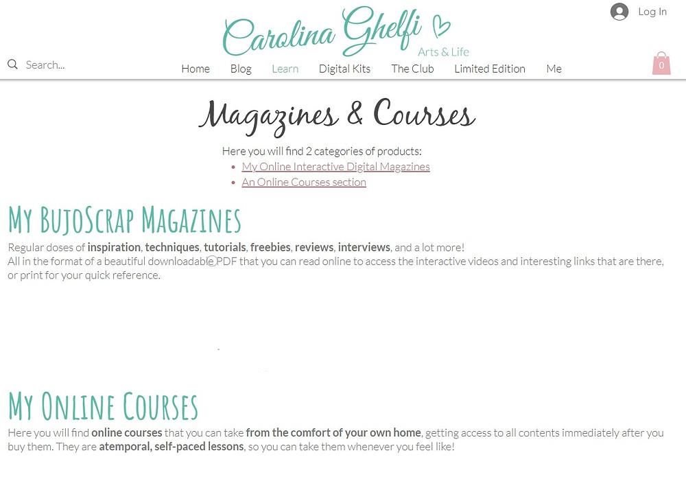 Carolina Ghelfi BujoScrap Magazine and Courses