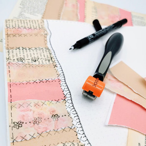 Faux Paper Patchwork with Sew Stamper by WeR Memory Keepers (ITA-ESP-ENG)