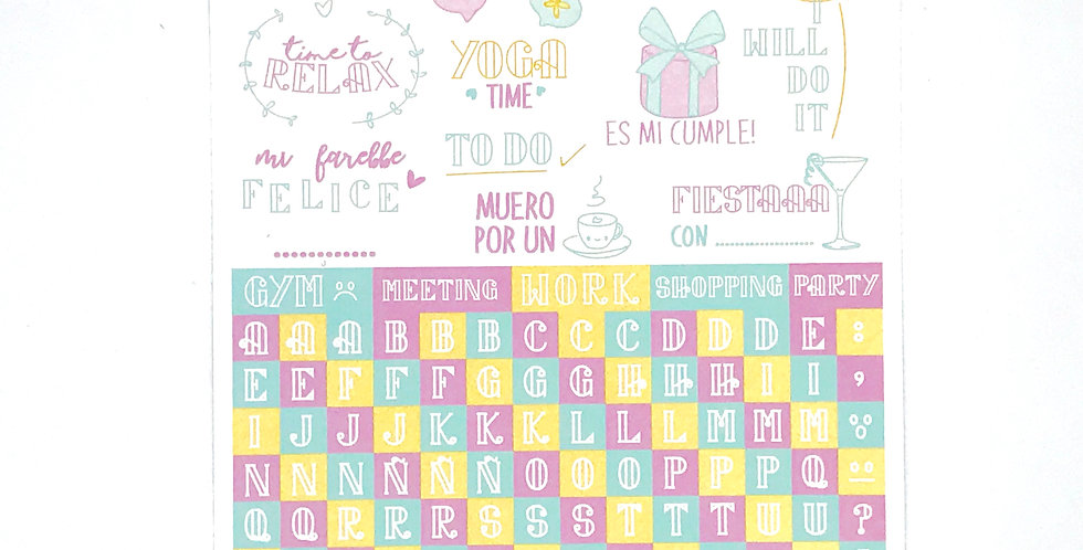 "BujoScrap Sticker N.1 ""Liberty Alpha"" by Carolina Ghelfi"