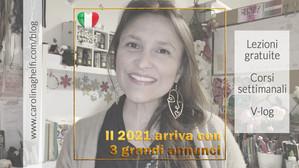 V-log 2021 # 1 - BujoScrap in Italiano - 3 annunci importanti!