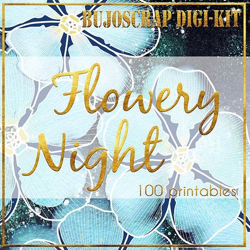 BujoScrap DIGIKIT: Flowery night - 100 printables + 1 SORPRESA ;)
