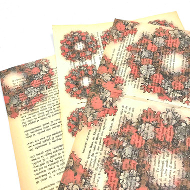 Prints on Real Vintage Books