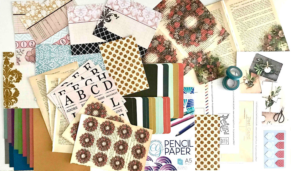 Vintage Postcards Scrapbooking/Cardmaking Kit - Special Edition