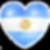 bandera argentina corazon acuarela claro