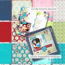 LAM 7 - Pack de láminas 12x12 (30,5cm) LINEA HITOS