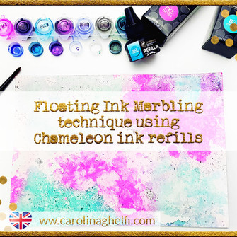 Chameleon Ink refills technique: Floating ink marbling!
