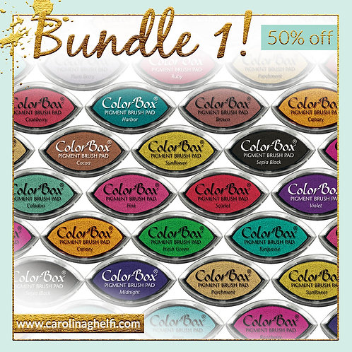 Inkpads BUNDLE - Clearsnap - Pigment ink - Eyecat format - ASSORTED COLORS