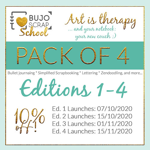 The BujoScrap Magazine & Course- Edition 1 to 4 BUNDLE!