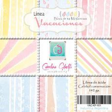 MILA4 - Pack de láminas 6x6 (15,2cm) LINEA VACACIONES