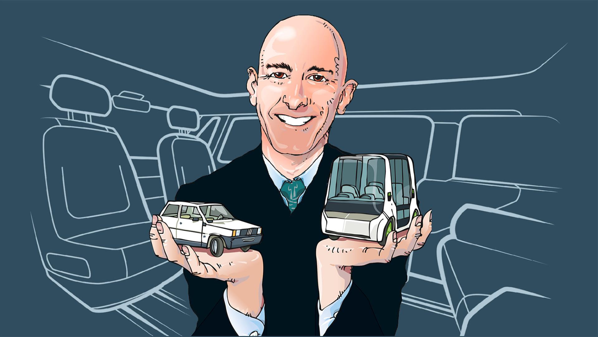 professor paolo tumminelli discussing tomorrow's automobiles