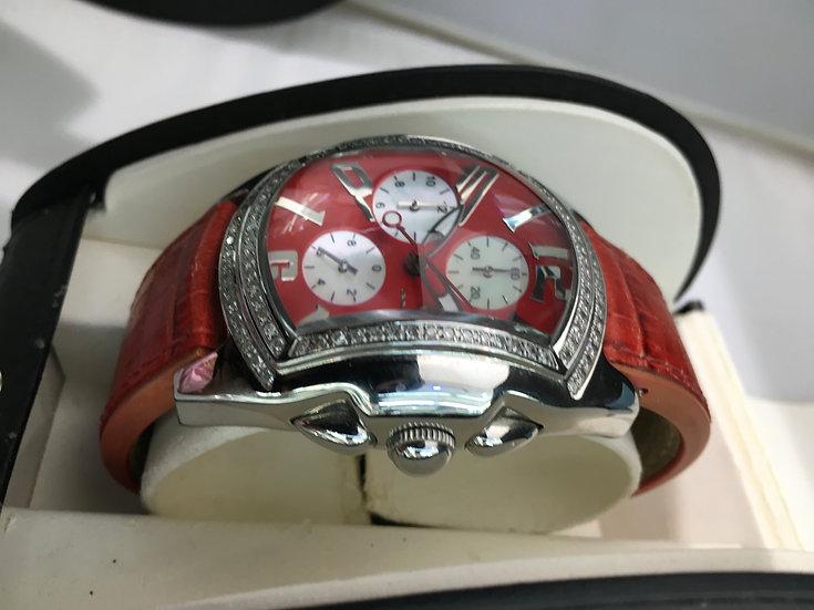 Giovanni & Co Chronograph Diamond Bubble Watch