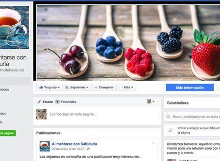 Alimentarse con Sabiduría tiene nueva página de Facebook. ¡Visítala!