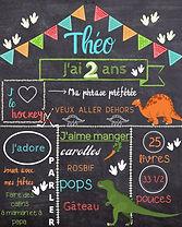 Tableau personnalisé, chalkboard, fête, souvenirchalkboard, affiche personnalisée, anniversaire,événement