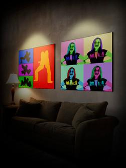 4 colour prints