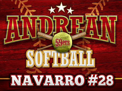 Andrean Softball Yard Sign 2019