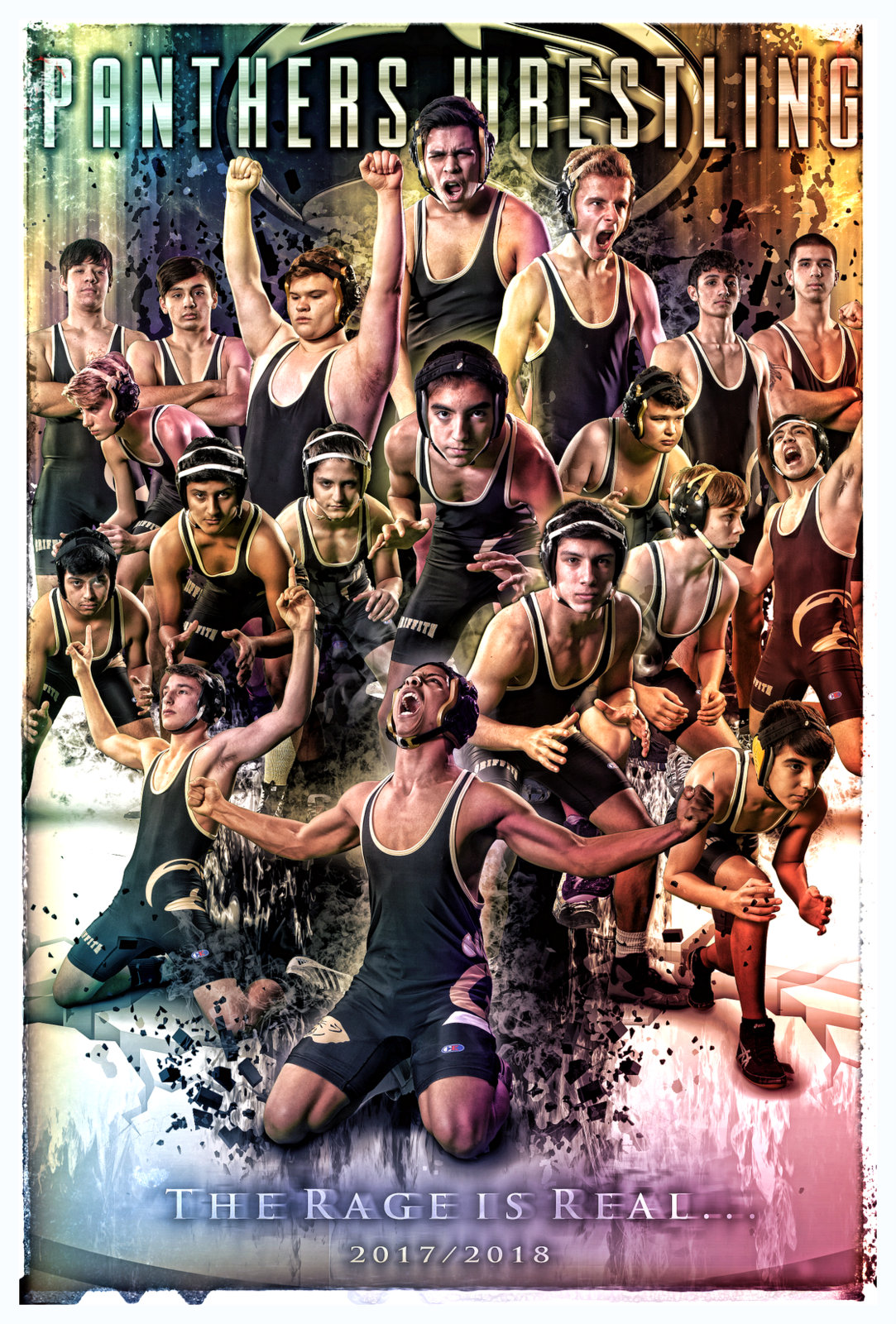 GRIFFITH WRESTLING TEAM POSTER 2-002