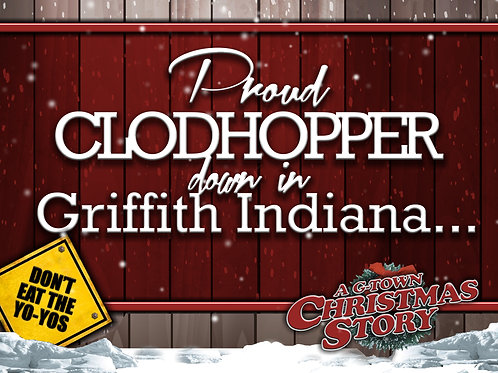 Griffith Clodhopper Yard Sign