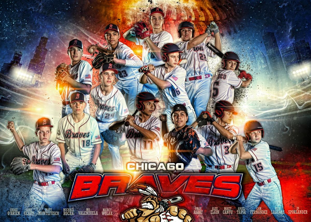 CHICAGO BRAVES TEAM BANNER 2019