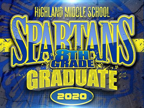 Highland 8th Grade Grad Yard Sign