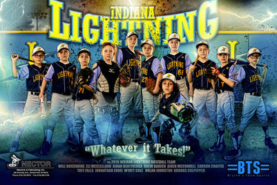 INDIANA LIGHTNING TEAM BANNER 2019 SPONS