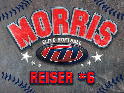 Morris Elite Softball Yard Sign 18x24 Single Sided