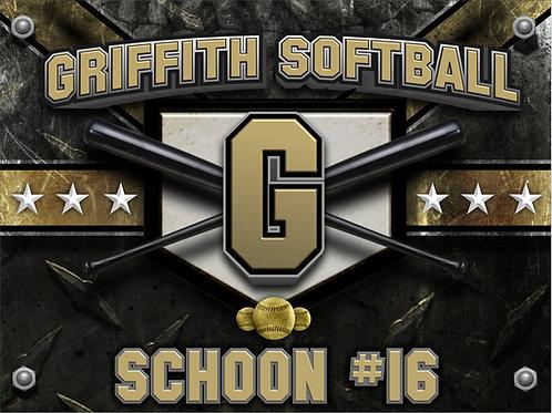 Griffith Softball Yard Sign