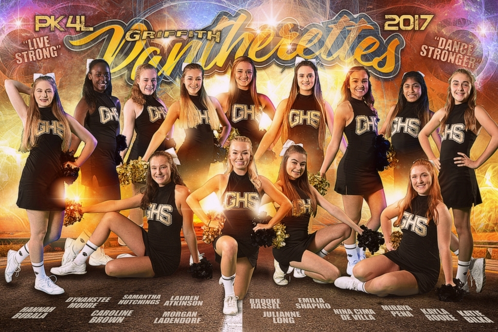 GRIFFITH PANTHERETTES TEAM POSTER 2017