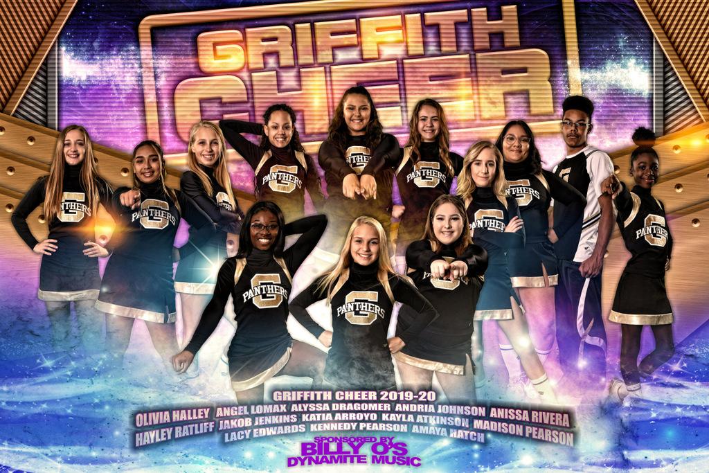 GRIFFITH CHEER TEAM BANNER 2019