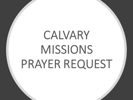 Missionary Prayer Request 12/11/2020