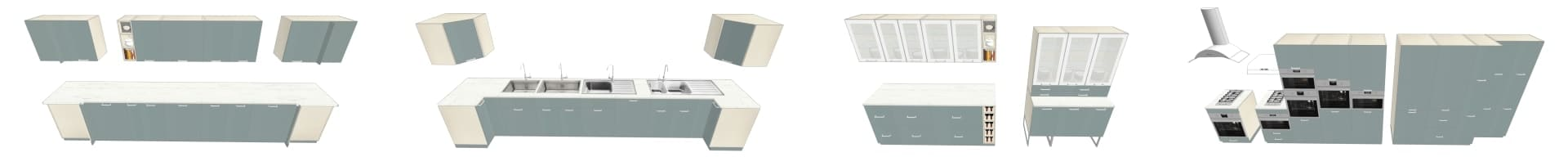 COLLECTION 3D IKEA KALLARP GRIS TURQ