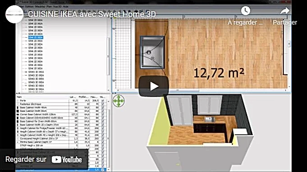 Design an IKEA kitchen with Sweet Home 3D