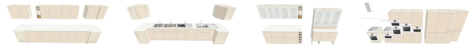 COLLECTION 3D IKEA VOXTORP BEIGE CL