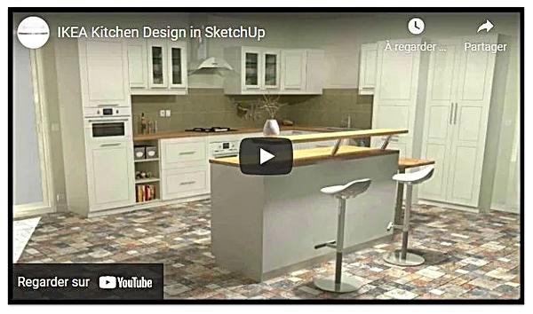 IKEA Kitchen Design in Sketchup.webp