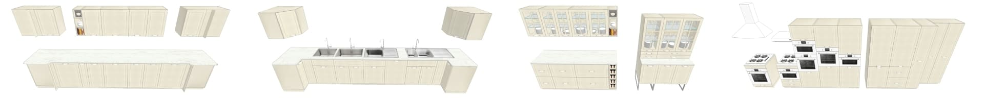 COLLECTION 3D IKEA BODBYN BLANC